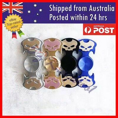 New Skull Fidget Spinners Hand Spinner Autism ADHD 3D Printed Focus Toys AU