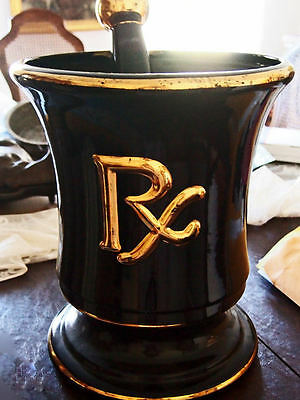 ANTIQUE drugstore RX APOTHECARY MORTAR & PEDSTAL GILMAN BOSTON 14LBS