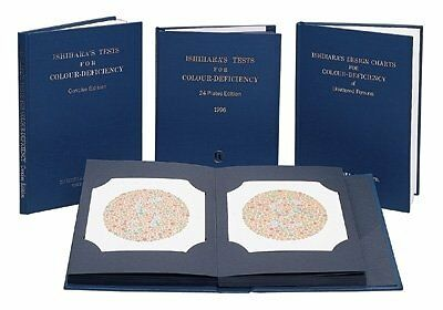 GFHC-1257-Ishihara Color Blind Test Chart - 10 Plate Unlettered (Illiterate) -