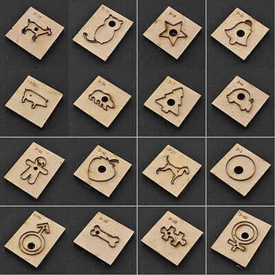 Leather Craft Cutting Mould 20 Shape Clicker Die Steel Wood DIY Handcraft