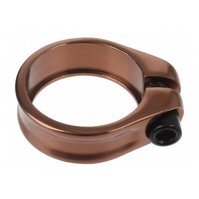 Vintage Bike Seatpost Clamp 34.9 Mm Seat Post Screw Brown Retro Retro Bronze