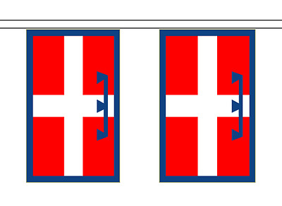 Italy Piedmont Flag Bunting - 6m long with 20 Flags