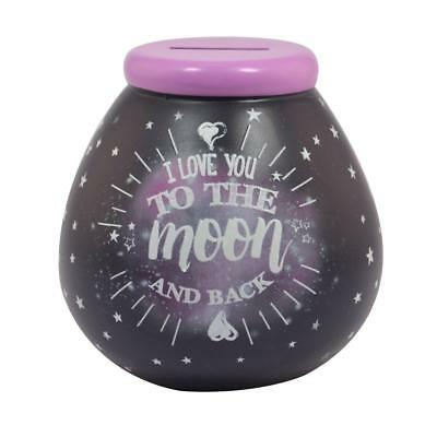 Pot Of Dreams I Love You To The Moon And Back Money Box New Boxed Gift