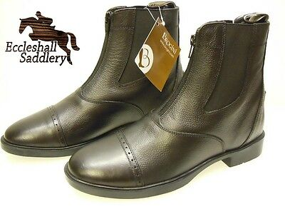 Brogini Finchley Women's Zip Jodhpur Boots Black Riding Boots Leather