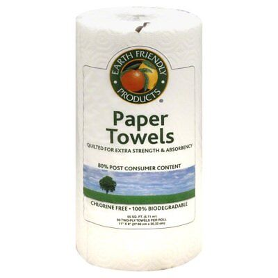 Earth Friendly Products Paper Towels, White - 1 Roll (Pack Of 3)