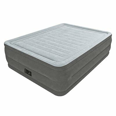 Intex Comfort Plush Elevated Dura-Beam Airbed with Built-in Electric Pump Queen