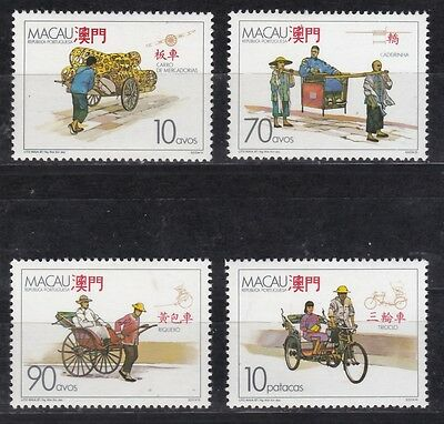 Macau 1987 postfrisch MiNr. 583-586 Traditionelle Transportmittel