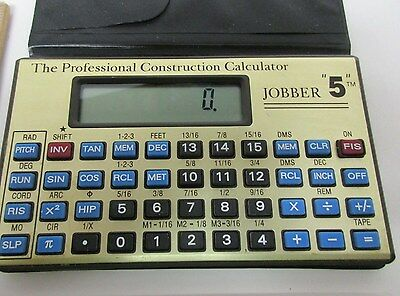 "The Professional Construction Calculator, In Case, Jobber ""5"" w/instructions"