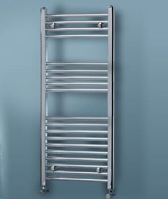 Chrome Heated Towel Rail Rad Radiator Bathroom Heating Flat Straight ALL SIZES