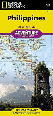 Philippines Adventure Travel Map National Geographic Waterproof