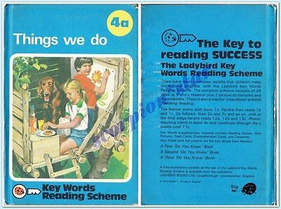 LADYBIRD BOOK  KEY WORDS READING SCHEME 4a : THINGS WE DO : HC : VGC : 1974