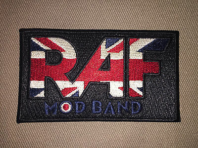 Raf Mod Band Embroidered Scooter Patch!!