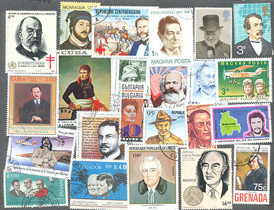 Famous People-1000 all different stamp collection