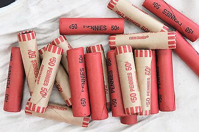 1 - Roll UNSEARCHED 1909-1958 PDS Wheat cents from a SEALED Box of Pennies # 682