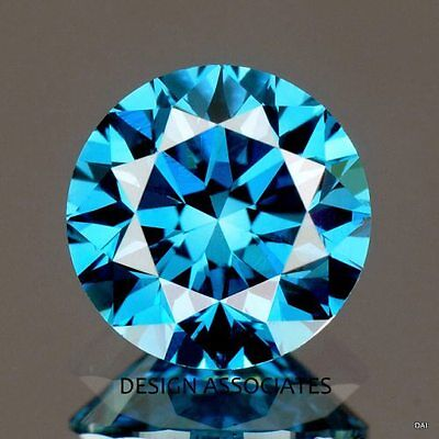 Blue Diamond 3 Mm Round All Natural Outstanding Stone