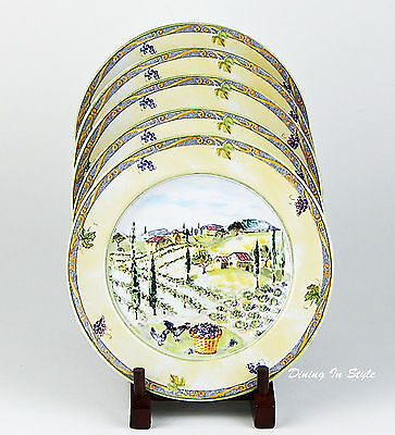 2 Salad Plates MINT- SUPERB! Tuscan Country, Interiors PTS International, 183