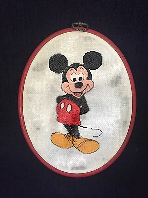 Mickey Mouse Cross Stitch in Frame