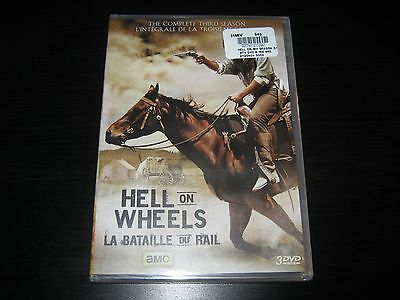 Hell on Wheels: The Complete Third Season (DVD, 2014, 3-Disc Set, Canadian) New