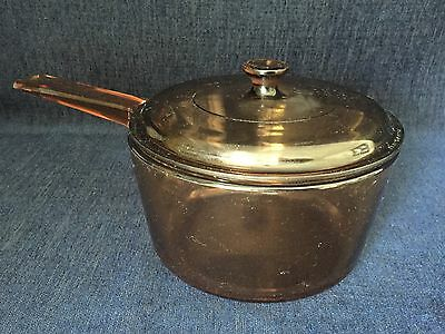 Vision 1.5 Litre Amber Sauce Pan With Lid France