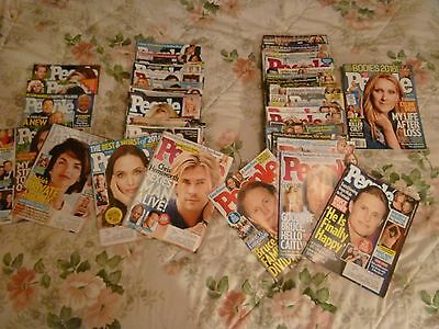 Lot of 32 People Magazines 2013 - 2015 #1 - 2016