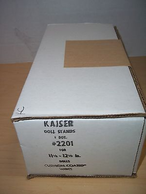 """Kaiser Doll Stand #2201 - White Metal /Cushion Coated Wire 11 1/2-12 1/2"""" Box/12"""