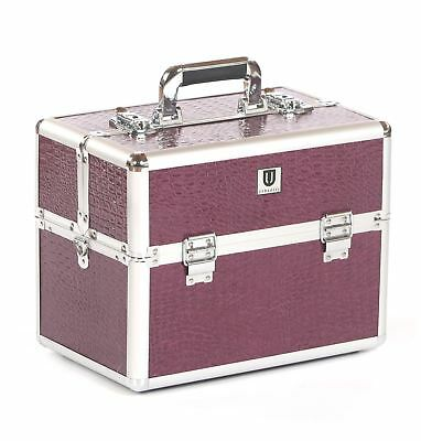 dog cat pet grooming tool tools storage tack box show travel case bag purple