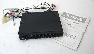 Alpine 3217 Old School 7 Band Graphic Equalizer/AMP Owner's Manual Included(S4)
