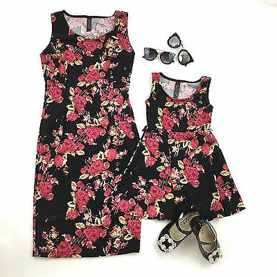 Mother And Daughter Matching floral dresses size 6 age 18 months