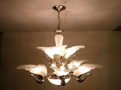 New Vintage Murano Glass Peacock Ceiling Light Chandelier