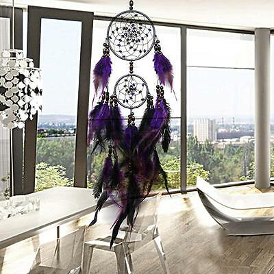 Home Car Dream Catcher Circular With feather Wall Hanging Decoration Decor Gift