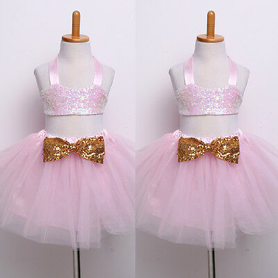 Pink Party Girls sequin Tutu Outfit  photoshoot 3-6 month bling gold Bow romani