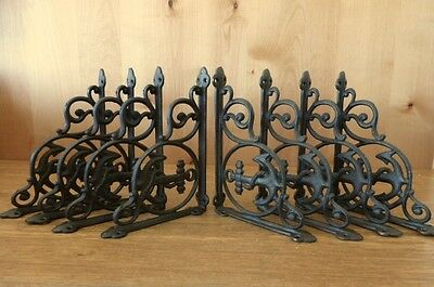 """8 BROWN ANCHOR THEMED SHELF BRACKETS 9"""" ANTIQUE STYLE CAST IRON nautical boat"""