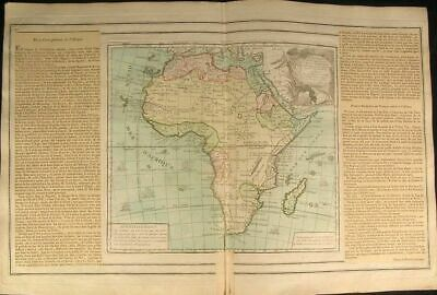 Africa Mts. of Moon sailing ships 1766 beautiful Desnos Brion antique rare map