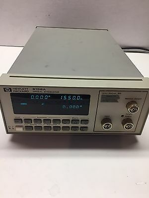 HP 8156A Optical Attenuator with opt. 121 With Output Monitor Port