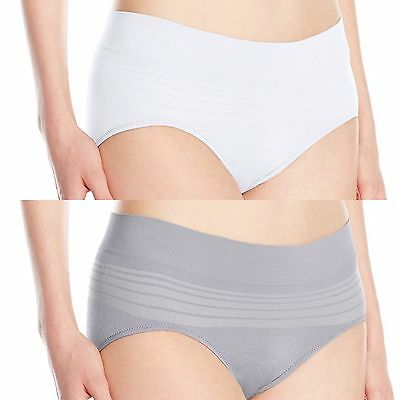 5fe9aa8d07b3 Warners Womens 2pc No Pinching No Problems Seamless Hipster ,HI-Cut Panty L/