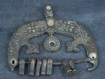 Ancient Bronze Pendant Islamic 1400 AD  #B212
