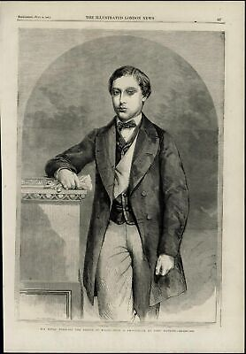 Prince of Wales Portrait British Royalty nice wonderful 1860 unusual old print
