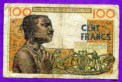 1961 West African States 100 Francs P-101Aa