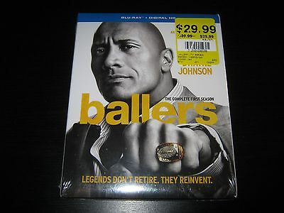 Ballers: The Complete First Season (Blu-ray Disc, 2016, 2-Disc Set) New Sealed