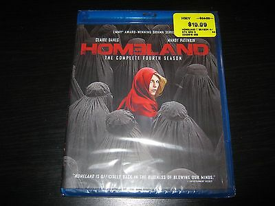 Homeland: The Complete Fourth Season Blu-ray Disc 2015, 3-Disc Set, Canadian New