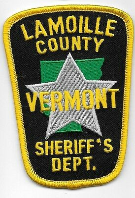 Lamoille Vermont Vt Sheriff Dept Lc So Sd State Outline And Star