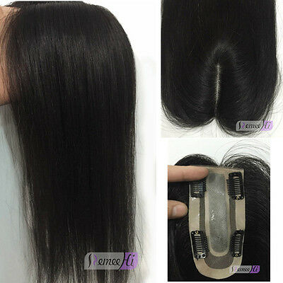 13cm*6cm/13cm*8cm base invisible base clip in remy hair piece human hair topper