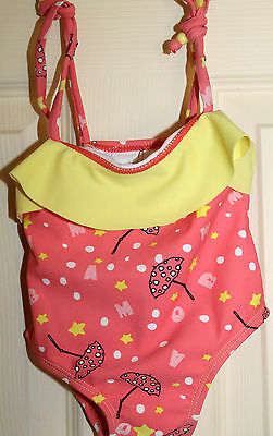 New with Tags MAMBINO MAMBO One Piece baby Girls BATHERS size 0