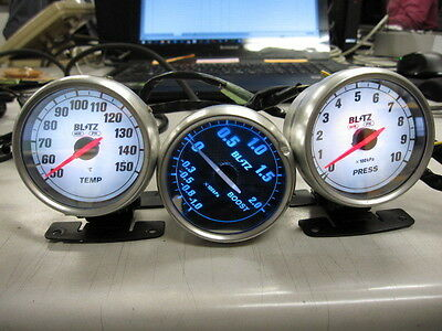 [603S] JDM:SUBARU:IMPREZAW:GGA Middle Model:BLITZ BOOST, OIL PRESS, TEMP GAUGE