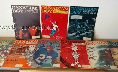 RARE Complete 1965 Volume 2 Issue 1-9 Boy Scouts Canadian Boy Magazine