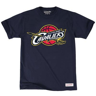 NEW Cleveland Cavaliers Team Logo Navy Cotton T-Shirt by Mitchell & Ness