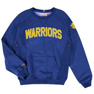 Golden State Warriors Long Sleeve Training Room Crew Sweater by Mitchell & Ness
