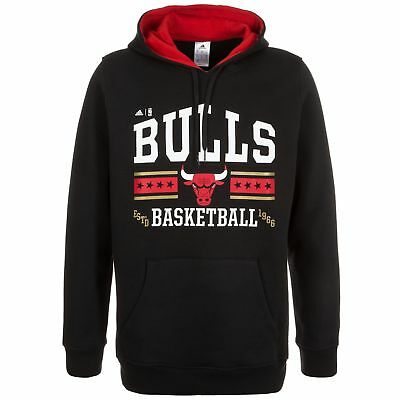 NEW Chicago Bulls Washed Pullover Hoodie by adidas
