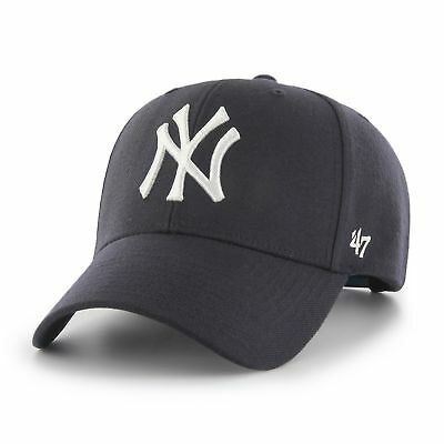 NEW New York Yankees Navy MVP Cap by 47 Brand - Adjustable Curved Visor