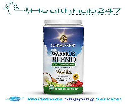 Sunwarrior Warrior Blend Protein Vanilla 1kg EXPRESS DELIVERY